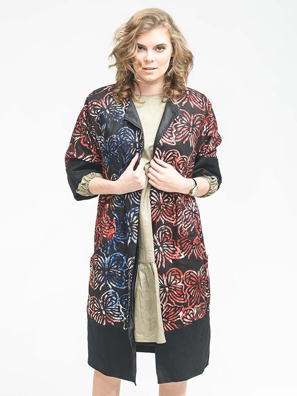 Butterfly Ankara print coat - Joadre Fashion 974f828234
