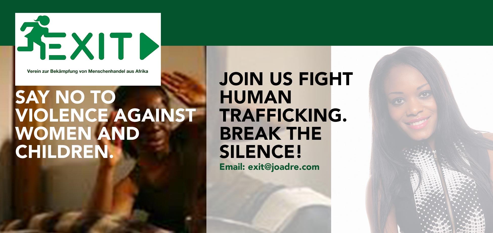 Verein EXIT. Joana Adesuwa Reiterer. Verein zu Bekämpfung von Menschenhandel aus Afrika