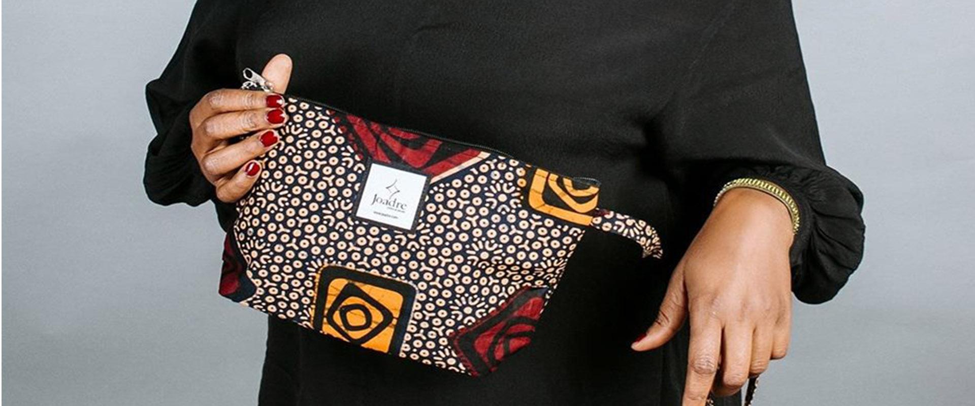African makeup bag
