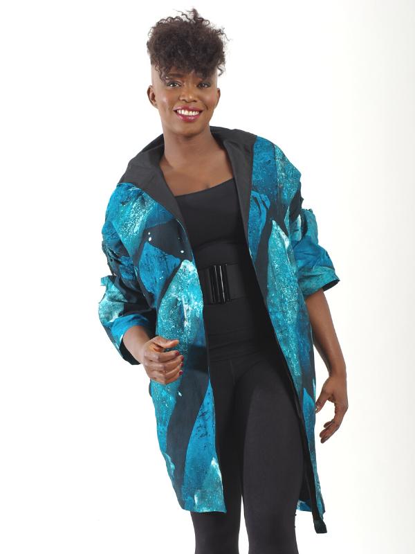 Black-white African inspired jacket