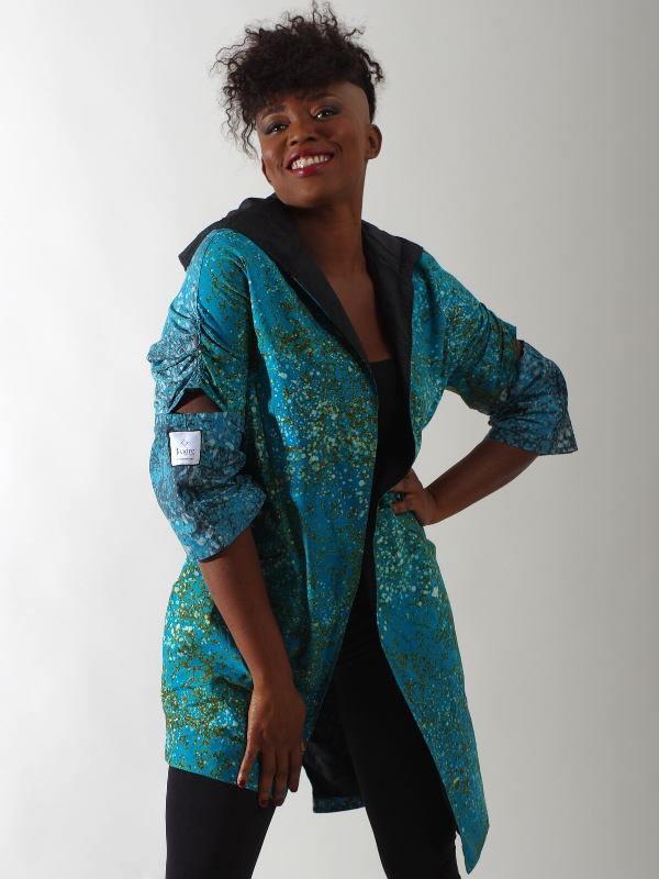 Turquoise African inspired jacket