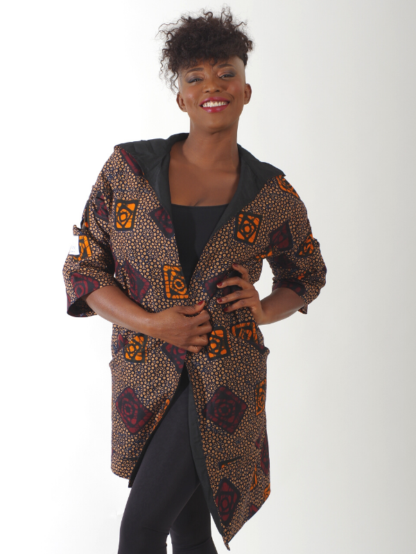Black-white African inspired jacket