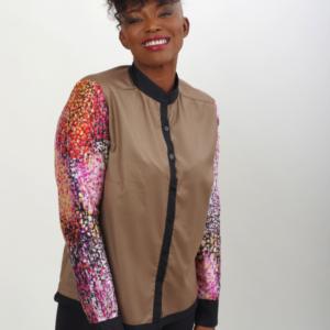 African inspired printed shirt joadre