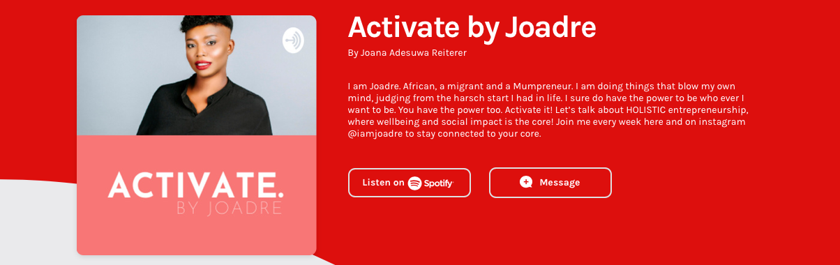 Joadre activate African inspired business podcast